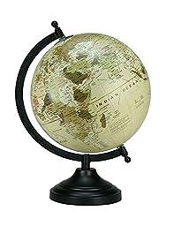 Rotating Desktop Globe Beige Color Globe Table Décor Ocean Geographical Earth