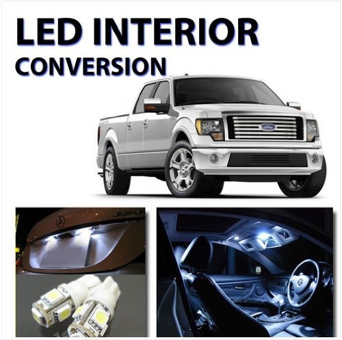 Bright White LED Lights Interior Package 12pc Kit for Ford F150 2010-2012