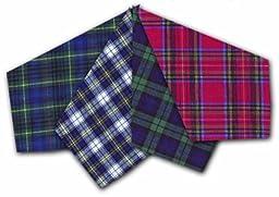ETHO 12 Pack Mens Check Tartan Print Handkerchiefs 100% Cotton
