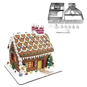 Fox Run Ten Pedaço Gingerbread House Cookie Cutter Set Bake