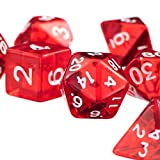 7pcs Roten D4 D6 D8 D10 D12 D20 Würfel-Set Für Dungeons...