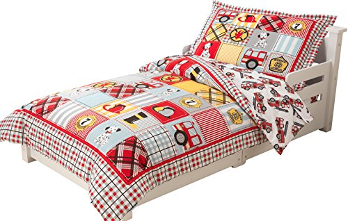 KidKraft Toddler Fire Truck Bedding