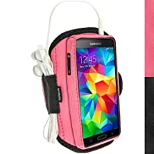 buy Igadgitz Water Resistant Pink Sports Jogging Gym Armband For Samsung Galaxy S5 Sv Sm-G900