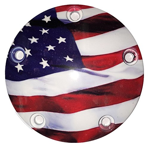 Harley Davidson American Flag Timer Cover by D&L DerbyCappers Vapor Embedded Timing Covers (Harley Davidson Timer Cover compare prices)