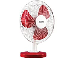 USHA MIST AIR DUOS TABLE FAN RED 400mm