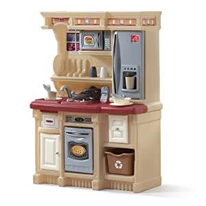 Step2 lifestyle custom kitchen maroon toys for Toy kitchen set