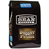 Christopher Bean Coffee Flavored Whole Bean Coffee, Butter Pecan, 12 Ounce