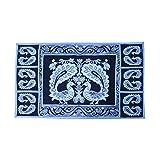 E-Retailer's Black And White Peacock Design Fridge Top Cover