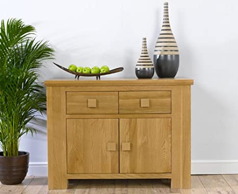 Dorset Solid Oak 2 drawer 2 door sideboard