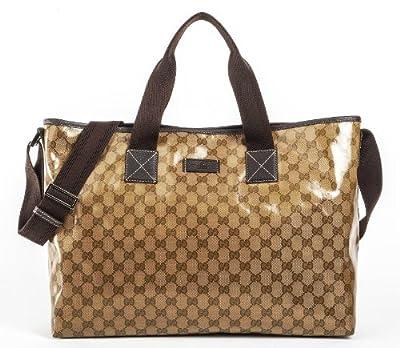 Gucci GG Guccissima Crystal Gold Brown Handbag