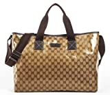 Gucci GG Guccissima Crystal Gold Brown Handbag thumbnail