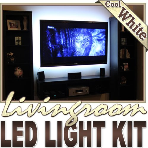 6' Ft Cool White Wall Unit Fireplace Couch Remote Controlled Led Strip Lighting Smd3528 Wall Plug - Behind Tv, Couch Lighting, Built In Wall Units, Around Fireplaces, Floating Shelves, Picture Frames, Aquariums Led Reading Light Strip Night Light Lamp Bul