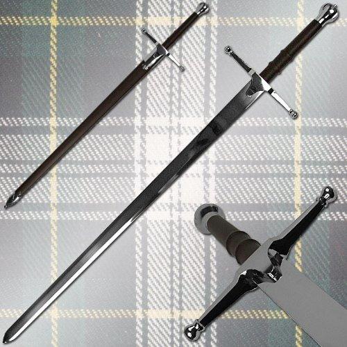 Amazon.com: Premium William Wallace Claymore Sword w/ Hard Scabbard
