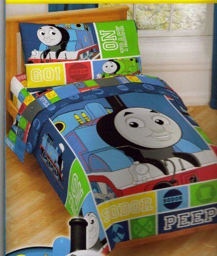 thomas train railroad bedding set 4pc thomas on track toddler bed