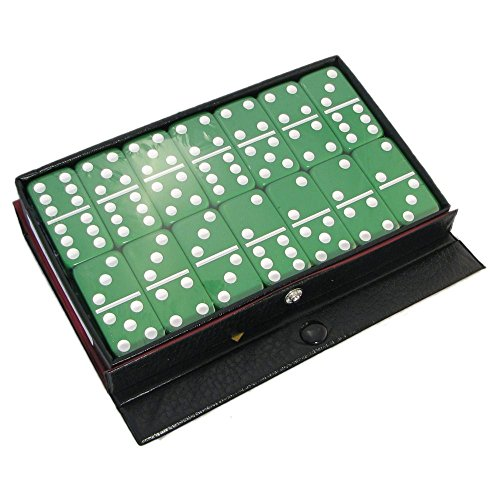 Standard Double Six Dominoes - Green