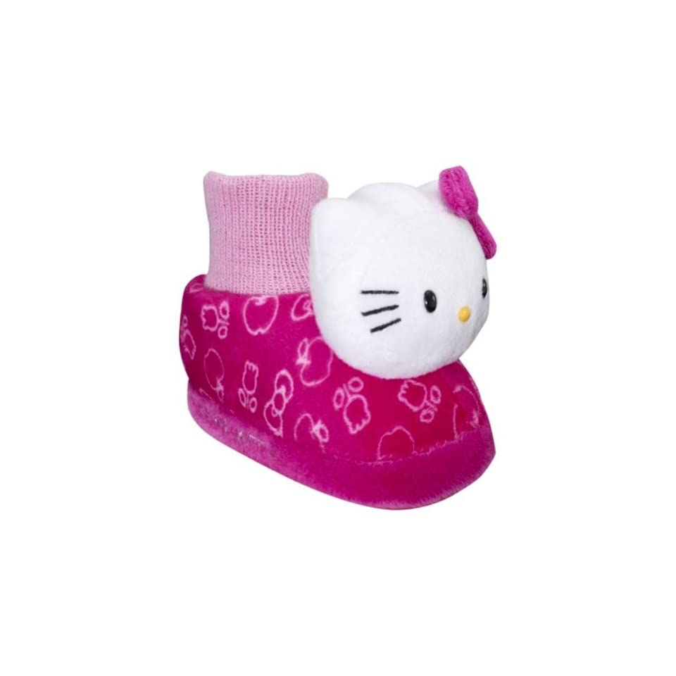 Sanrio Hello Kitty Slippers Shoes Sock Top Pink For Todders S (2T), M (3T), L (4T), XL (5T)