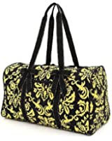 Belvah Women's Quilted Damask Large Duffle Travel Bag - Choice of Colors!