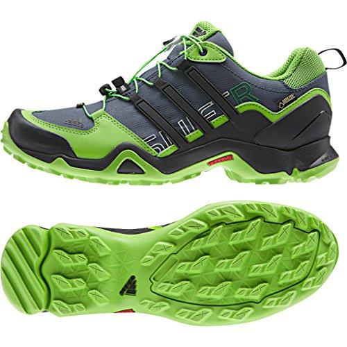 adidas Outdoor Terrex Swift R GTX Hiking Shoe - Men's Semi Solar Green/Black/Black - 10