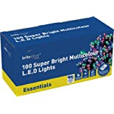 Brite Ideas Festive 100 Multiaction LED Lights, Multicolour