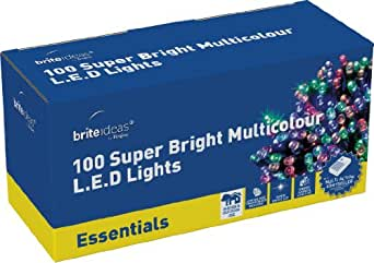 Brite Ideas Festive 100 Multiaction LED Lights, Multicolour