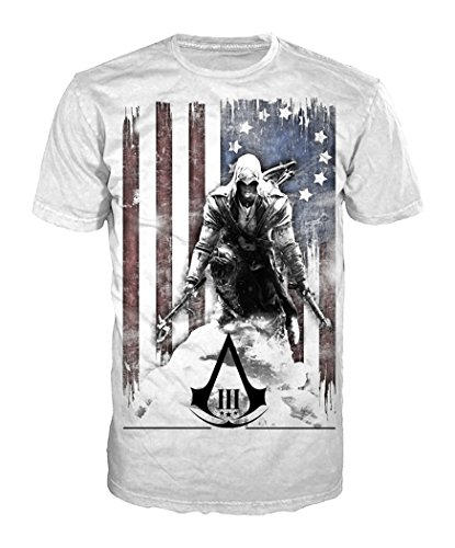 Assassins Creed - T-Shirt Burned Flag (in XL)