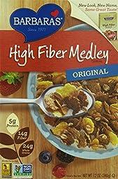 Barbara\'s High Fiber Medley Cereal, Original, 12 Ounce (Pack of 6)