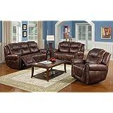 Pleasant Nora Brown Leather Reclining 3 Pc Living Room Sofa Set Creativecarmelina Interior Chair Design Creativecarmelinacom