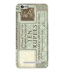 Evaluze rupees note Printed Back Cover for LENOVO A 2020