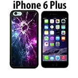 Cracked Screen Prank Custom made Case/Cover/skin FOR iPhone 6 Plus - Black - Rubber Case ( Ship From CA)