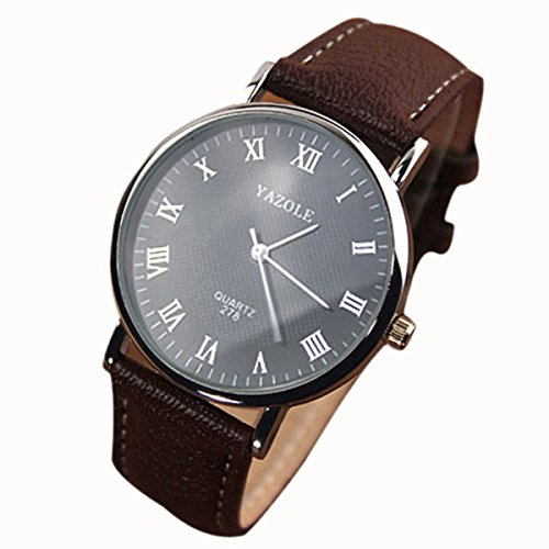 Changeshopping(Tm) Luxury Fashion Faux Leather Mens Quartz Analog Watch Watches