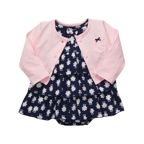Carter'S 2-Pc Dress Set - Navy/Pink Floral-6 Months front-139166