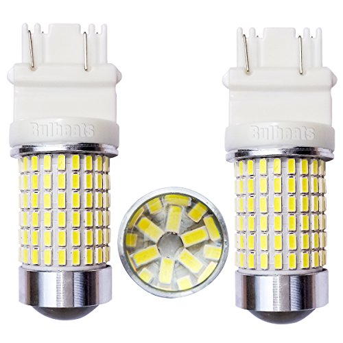 Bulbeats 1200 Lumens 2pcs 144-BX Chipsets 3056 3156 3057 3157 LED Bulbs with Projector backup lights turn signal light brake light tail light White 6000K Best Value! (Lumen Led Bulbs compare prices)