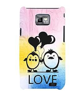 EPICCASE lovers pose Mobile Back Case Cover For Samsung Galaxy S2 (Designer Case)