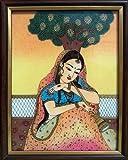 Lady Sitting Under Tree and Playing Shenahai, Art Craft & Handicraft