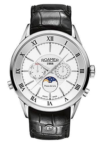 Roamer of Switzerland - 508821 41 13 05 - Montre Homme - Quartz - Chronographe - Bracelet Cuir Noir