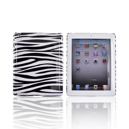 Black White Zebra Hard Plastic Back Cover Case Cover For Apple iPad 2