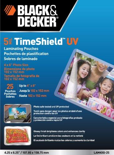 black-decker-timeshield-uv-thermal-laminating-pouches-4-x-6-photo-5-mil-25-pack-lam4x6-25