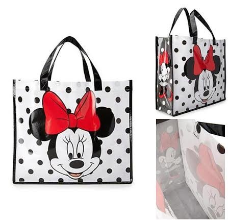 Minnie Mouse Face with Polka Dots Reusable Tote Bag