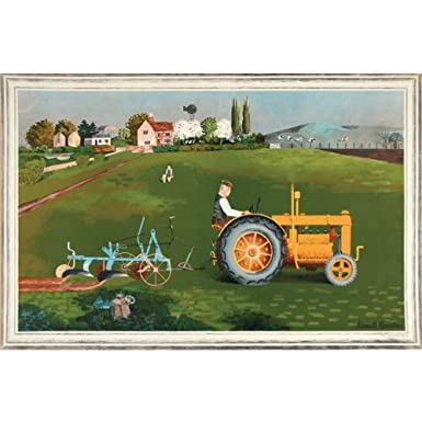 Kenneth Rowntree 'Tractor' School Print