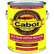 Cabot Solid Color Acrylic Deck Stain-REDWOOD SOLID DECK STAIN