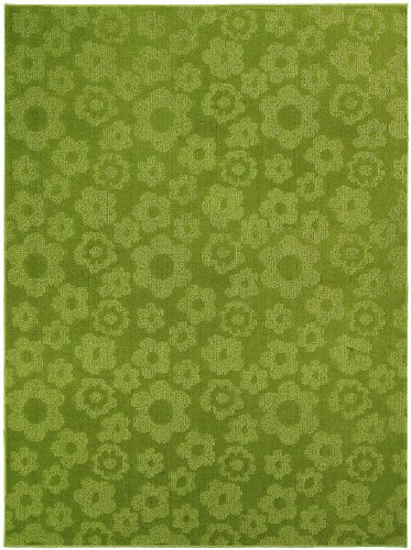 Garland Rug Flowers Area Rug, 5-Feet By 7-Feet, Lime front-977115
