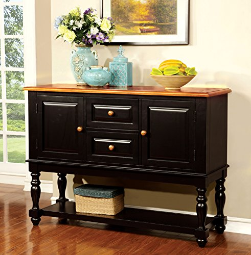 Furniture of America Antha Country Style Duo-Tone Dining Buffet Server (Buffet Server Antique Style compare prices)