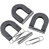 12 Horseshoe Magnets with Metal Bar