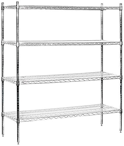 Salsbury Industries Stationary Wire Shelving Unit 60-Inch