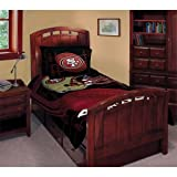 NFL San Francisco 49ers Football Team Comforter Set with 2 Shams for Twin or Full Bed