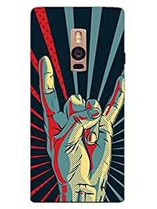 Yo Youth Rebel Symbol - Hard Back Case Cover for OnePlus Two - Superior Matte Finish - HD Printed Cases and Covers