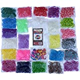 ★LIMITED TIME 60% OFF★ 6400pc Premium Loom Bands Refill Kit ★ 30+ Beautiful Colors and Styles Including Neon Glow in the Dark and Tie Dye Loom Bands ★ BONUS 300 Clips and 50 Charms Included! Make thousands of different rubber band bracelets! LARGEST AND MOST ASSORTED RAINBOW COLORED LOOM BAND REFILL KIT ON AMAZON! Fill up your Loom Bands Organizer today!
