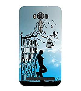 EPICCASE peace dreamer Mobile Back Case Cover For Asus Zenfone 2 Laser ZE500KL (Designer Case)
