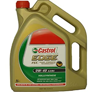 Castrol EDGE 0W-40 FST 5 Litre Fully Synthetic Engine Motor Car Oil New German Edition
