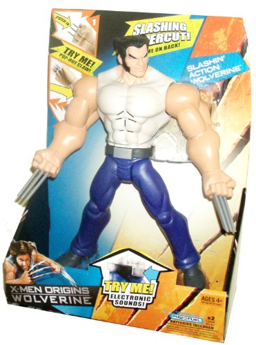 Buy Low Price Hasbro X-Men Origins Wolverine 10 Inch Tall Action Figure – Slashin' Action Wolverine with Electronic Sounds, Pop Out Claw and Slashin' Uppercut (B002KC72D4)